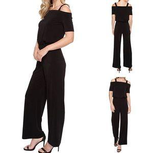 NWT Karen Kane Black Jumpsuit Large